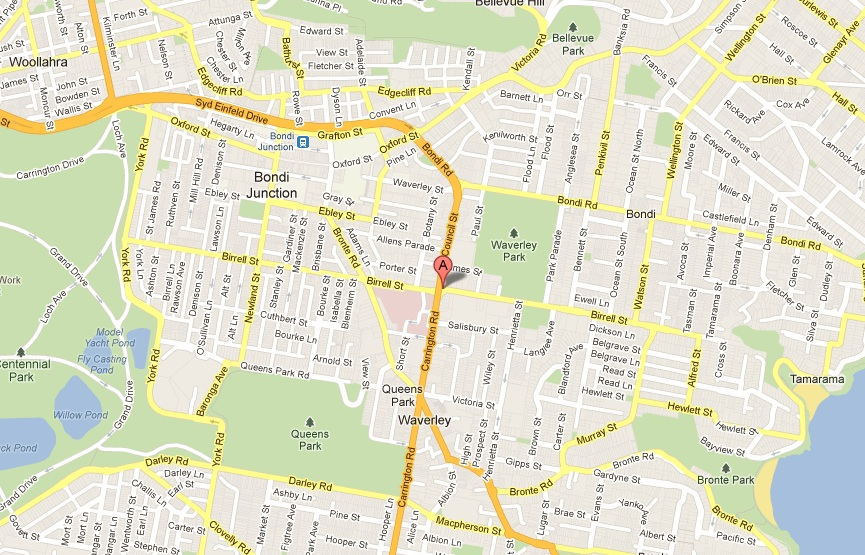 Map of Birrell St